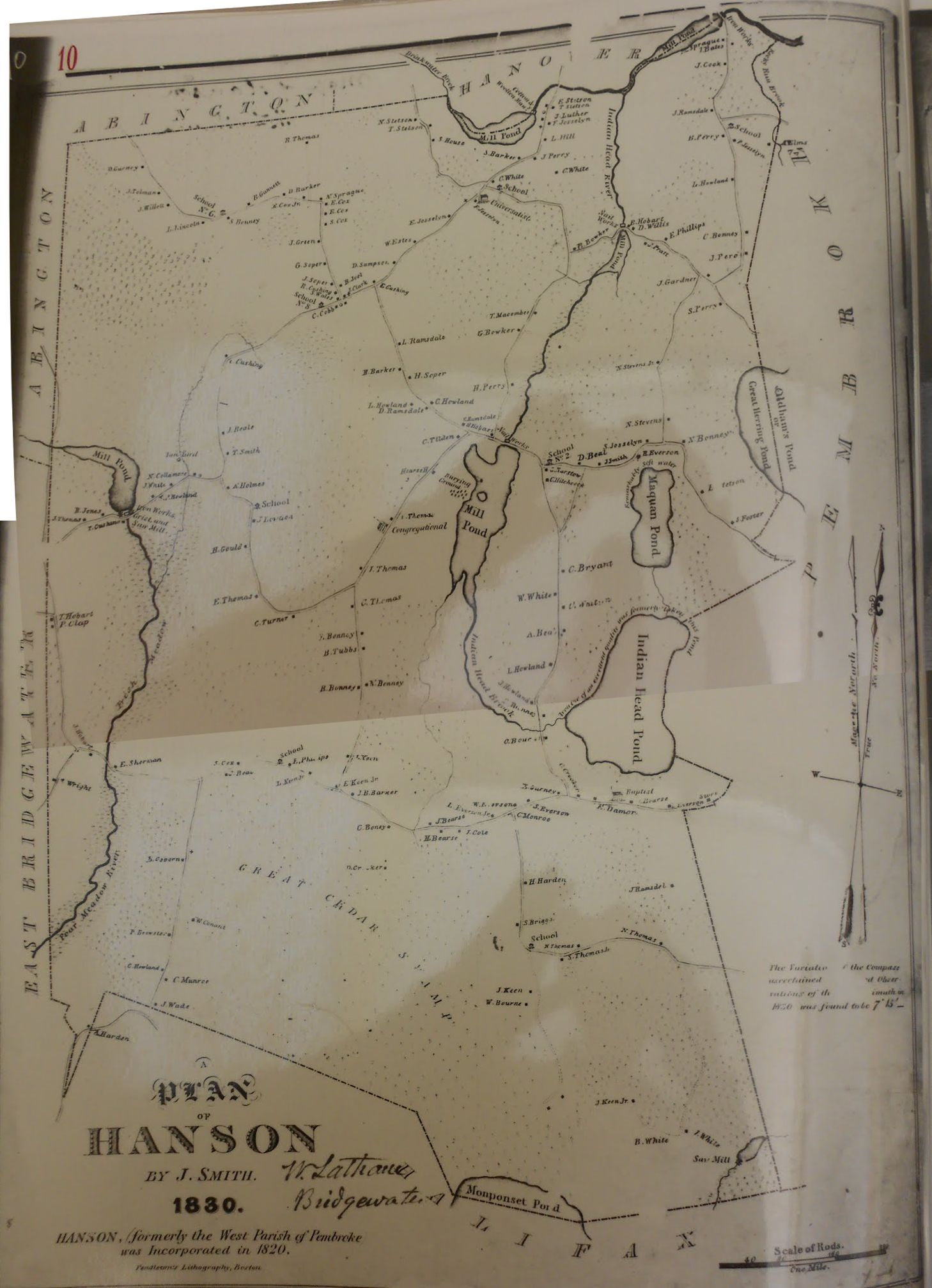 Maps Hanson Ma Usgenweb Project
