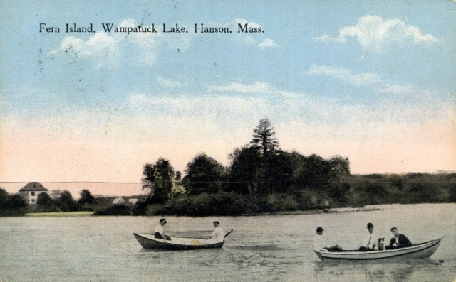 Wampatuck Pond and Fern Island, 1910